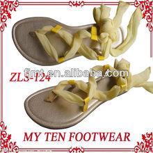 New Fashion Flat TPR Sole Ladies Women's Sandal Shoes