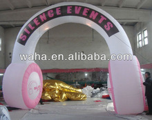 Attractive advertising inflatable arch/event supply/inflatable earphone arch