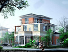 3 storey prefabricated house light steel homes
