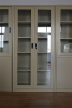 Double swing door painted glass wardrobe for Dubai