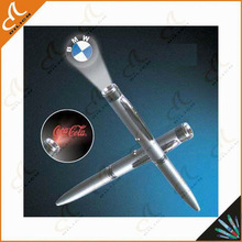 metal led logo projector pen