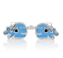 Little Whale Baby Blue stud earring posts