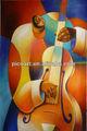 La reproducción de arte violonchelos/cellos foto sobre lienzo, el arte abstracto pintura de obras
