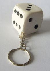PU stress magic dice ball with keychain