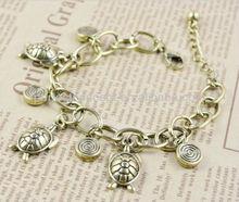 Fashion charm bracelet turtle tortoise swirl