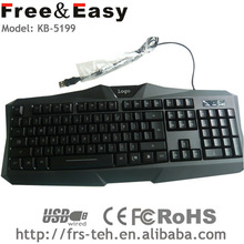 Cool feeling led gaming keyboard led display