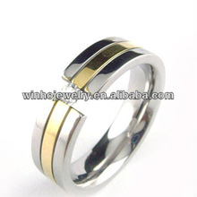 stainless steel gold diamond rings