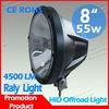 auto hid driving light,auto tuning light 35w/55w 8inch super bright remote area hid work light for heavy truck