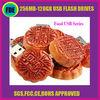 Fancy Cake Shape Promotional Full Capacity 1-16GB Memory Flash Drive Food USB Disk