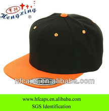 2013 fashion two tone blank custom 6 panel snapback cap and hat