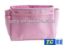 cheap fashion polyester cosmetic bag polka dot