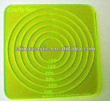 Plexiglass Concentric Circles