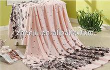 flower flannel fleece blanket supplier (FB-017)