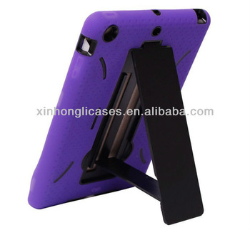 Robot style Silicon and PC stand case for ipad mini