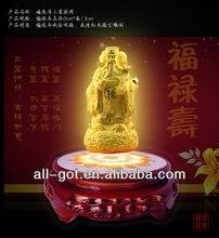 Unique golden craft magnetic floating golden buddha craft--------Flocking alluvial gold