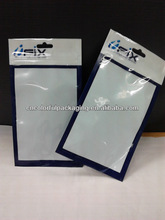 Samsung Galaxy Note 2 backcover packaging bags/mobile phone accessories bag with see through window