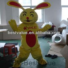 new adult happy rabbits advertising cartoon mascot costume promotion rabbit mascot