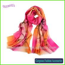 Hand painted wool shawl
