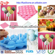 20 Holes Cheap Silicone Cake Pop Mold Cupcake Baing Tray For Lollipop Wedding Decorating With 20 Free Sticks Shenzhen China
