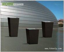 Modern rattan basket planters