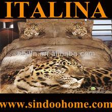 4pcs&6pcs set animal 3d bed cover set