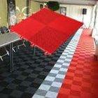 red vinyl floor tiles