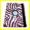 Rotating Magnetic Leather Case for the new iPad 3 2 4 Smart Cover PU Leather Cases Accessories Stylish Zebra Pinto New Purple