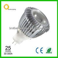 GU4.0 MR11 high power led spot lighting 3w dimmable