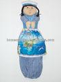 souvenir turistico regalo bambola per mare