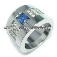 mens fahion jewelry stainless steel sale diamond rings