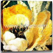 Newest Design Yellow Flower oil paintings-wall art flower paintings