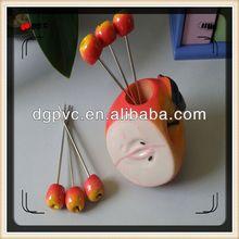 disposable plastic fruit forks ,christmas decoration, fruit pick skewer stick