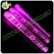 New Product Printed Plastic 4*40cm party props flashing led foam stick