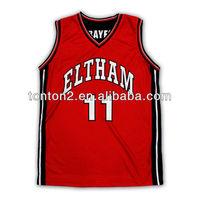 2013 New design custom sublimated basketball jerseys