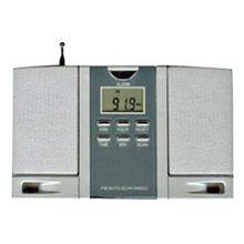FM portable clock radio with antenna and speaker cheap fm portable radio
