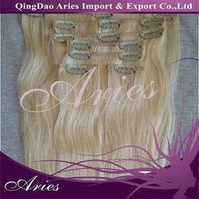 "#60,22"" 6pcs 100gr malaysian remi hair clip in hair"