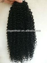 16 inch afro curl long virgin hair half wig