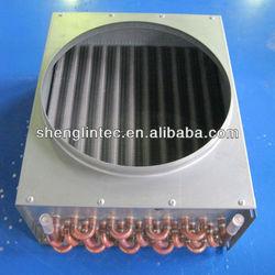 Fin type refrigerator aluminium gas to liquid evaporative refrigerator exchanger