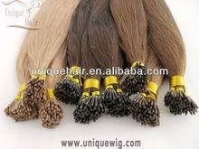 human hair i tip hair extension/nail