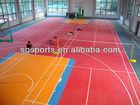 Multi-purpose sports courts flooring with interlocking system