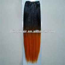 Best sell brazilian hair weave two tone factory price