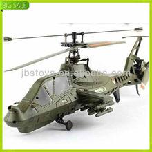 Fx035 única lâmina Apache 4CH helicóptero de controle remoto