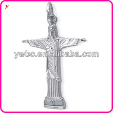 Yiwu Simple Wholesale Unique Christ Figure with Outstretched Arms Cross Keychain Charm or Pendant Necklace Factory