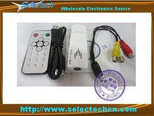 USB Digital & Analog TV Receiver stick Tuner w/ Remote for laptop SE-AT002