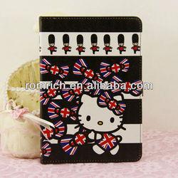 Black UK Flag Hello Kitty Leather case for Apple ipad mini