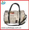Newspaper Printing Dual Shoulder Travel Bags