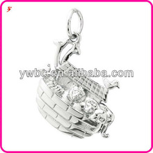 China Wholesale Silver Noah's Ark at World of Keychain Charm,Accessories or Pendant Necklace Manufacturer