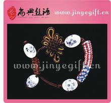 Chinese Style Hadmade Ceramic Bead Stylish Flag Beaded Bracelet