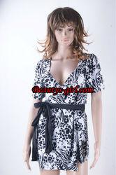 V neck Charming Girls black and white Sexy Clubwear
