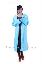 Adults fashion durable pvc long raincoat rain coat